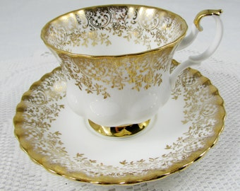 Vintage Royal Albert Tea Cup and Saucer with Gold Chintz