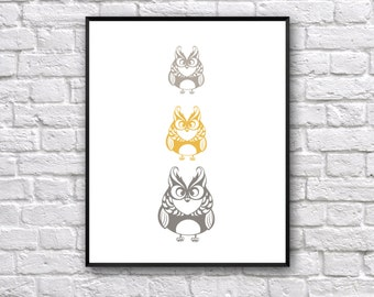 Owl Art Print, Nursery Art Print, Bedroom Art Print, Dream Art Print, Wall Art Print, Illustration Print, Bird Art Print