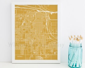Yuma Map Yuma Art Yuma Map Art Yuma Print Yuma Printable Yuma City Art Yuma City Map Arizona Art