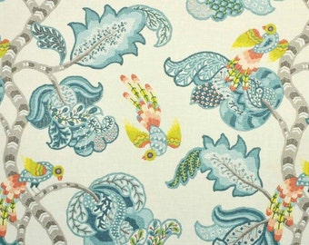 Henrietta Turquoise Fabric