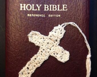 Thread Crochet Cross Bookmark