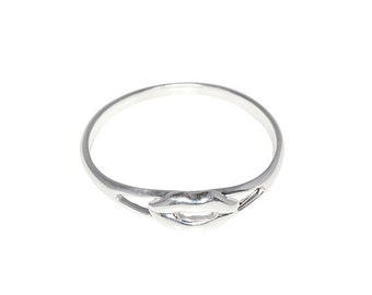 ON SALE Sterling Silver .925 Lips, Kiss Ring Sizes 4 - 10 Available | Made in USA