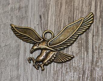 Eagle/Hawk Charm Antique Bronze Tone 1 pc
