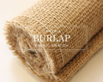 Burlap Table Linens - Order a Fabric Swatch | This Listing is For A Fabric Swatch Only. Table Runners and Overlays Are Sold Separately