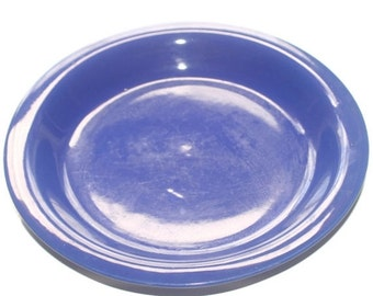 On Sale Vintage Blue Ceramic Dinner Plate, Replacement Plate
