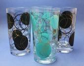 Vintage Polka Dots Drinking Glasses Marked Mira