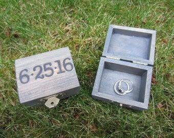 Beach wedding ring bearer box, beach wedding decor, ring bearer pillow, ring box, custom ring box, personalized ring box, small ring box