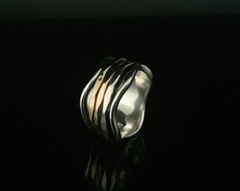 925 and bronze rings etsy