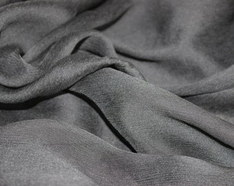 Black Chiffon Fabric by the Yard, Sheer Black Chiffon, Chiffon by the Yard