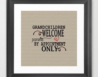 Grandchildren Welcome - Instant Download - Printable Digital Art