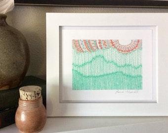 Sun and Hills --  7x5 Print