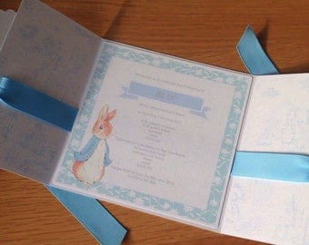 10x Personalised Christening Invitations