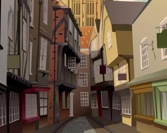 Shambles, York. Digital print. 300 gsm