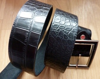 Belt Leather black Women Men