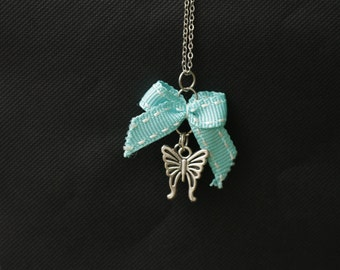 """Butterfly"" short chain necklace"