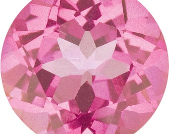 8mm Synthetic Pink Sapphire Loose Gemstone 2.04 CTW, AAA Flawless, Jewelry making