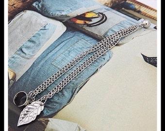 40% OFF Silver Leaf Ear Cuff Chain