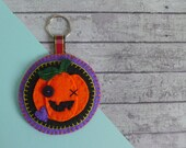 Halloween decoration keyring - Halloween gift - Halloween party favour - Halloween pumpkin - Jack O Lantern - Halloween decor for keys / bag