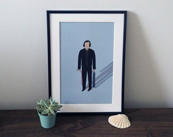 No Country for Old Men illustration A4 print - No Country for Old Men illustration - Coen Brothers - A4 art print - Javier Bardem - Movie