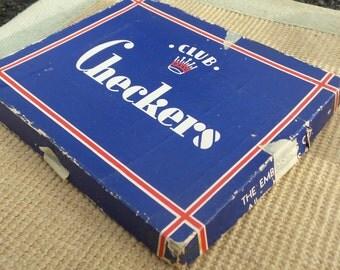 Vintage Club Checkers Embossing Co. - Art Deco Box