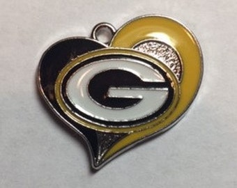 Green Bay Packers Heart Charm