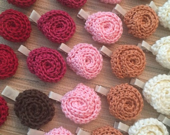 Mni Crochet Rolled Roses 100% Organic