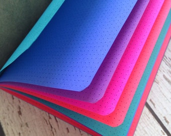 JEWEL TONES Traveler's Notebook Insert   - Choice of Patterns and 9 sizes