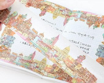 Story of the city Washi Tape/Deco Masking Tape/Planner Sticker/ Scrapbook Tape/ Deco tape TZ768