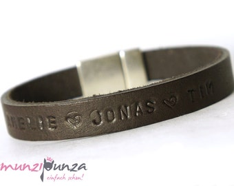 Name bracelet leather family band article 41