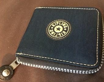 Vintage Kipling Wallet Navy Blue