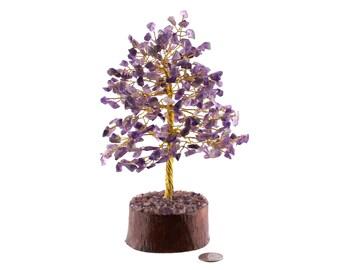 300 Chip Amethyst Gemstone Tree - Gold Wire **SALE**