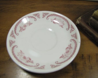 Homer Laughlin - Best China - Red and White Transferware Saucer