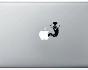 """""""Earthworm"""" sticker for MacBook"""