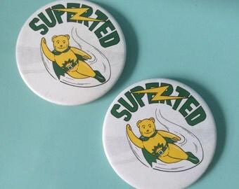 "Vintage 1979 ""SUPERTED"" Pin Badge - Kids TV - Cartoon"