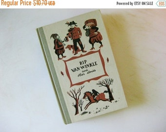 On Sale Junior Deluxe Editions, Rip Van Winkle and Other Tales, Washington Irving, Suzanne Suba Illustrations, 1955 Collected Shorts