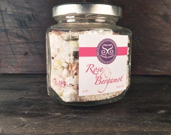 Rose & Bergamot Bath Salts