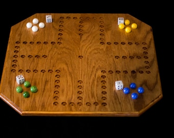 Handmade Oak Aggravation Board Game