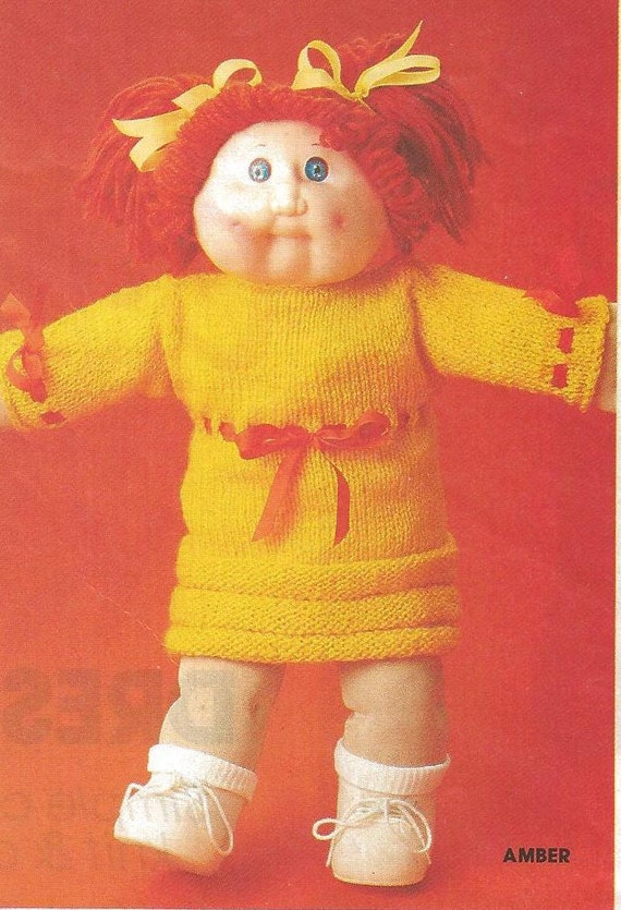 vintage cabbage patch clothes knit and crochet patterns