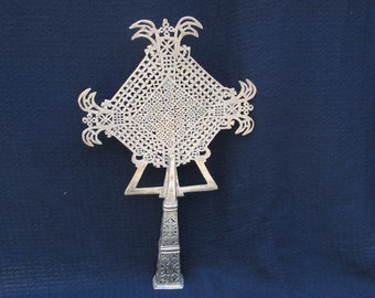 Vintage Hand Crafted Ethiopian Silver Coptic Cross