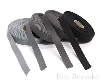 20 Meter Roll of 100% Italian Cotton Twill Kick Tape in Black and Three Grays