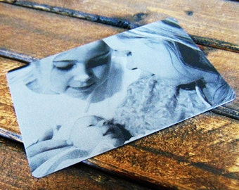 Photo Engraved On  A Wallet Insert With Picture Personalized Custom Etched Anodized Aluminum  Christmas Gift