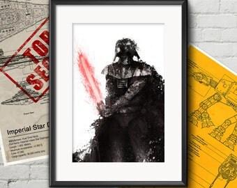 Star Wars art: Stormtrooper. Darth Vader