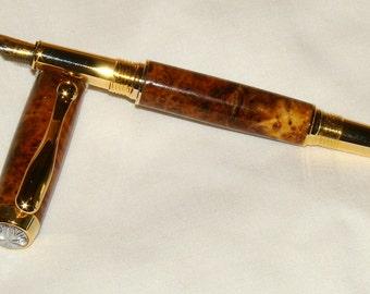 Wood Pen - Amboyna Burl Fountain Pen