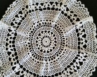 White Crochet Doilie