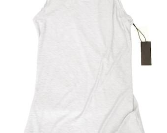 white long tank - cotton - modal - preshrunk - made in USA