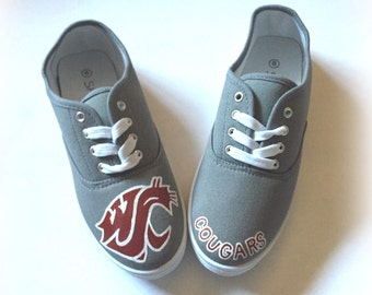 WSU Cougars Shoes, WSU Shoes, Womens Mens Washington State University Shoes