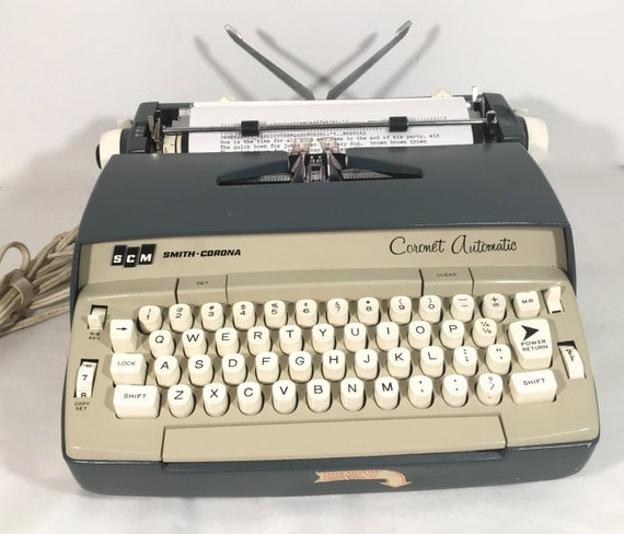 Electric typewriter essays