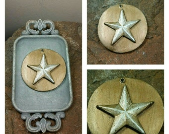 Star Essential-Oil Clay Diffusing Ornament /Holiday Ornament / Christmas Tree Ornament /EO Ornaments / EO Diffusing Ornament