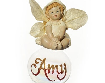 Personalised Lemon Gumnut Baby Bauble