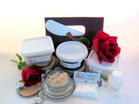 Natural Red Rose Petal Scrub Sugaring Paste Deluxe Starter Kit